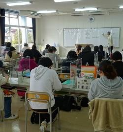 教室も感染症対策!